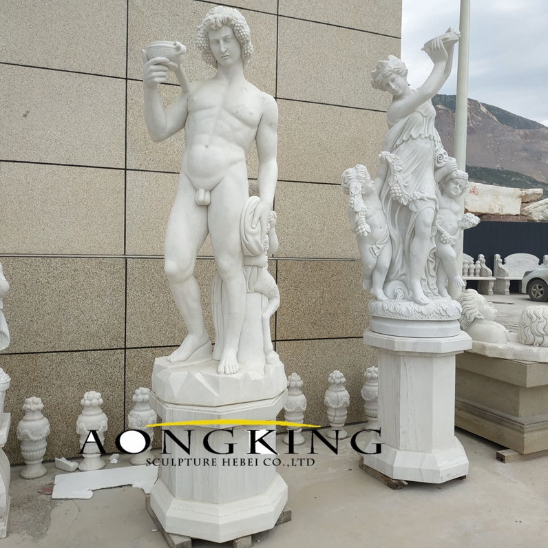 Nude man marble statue