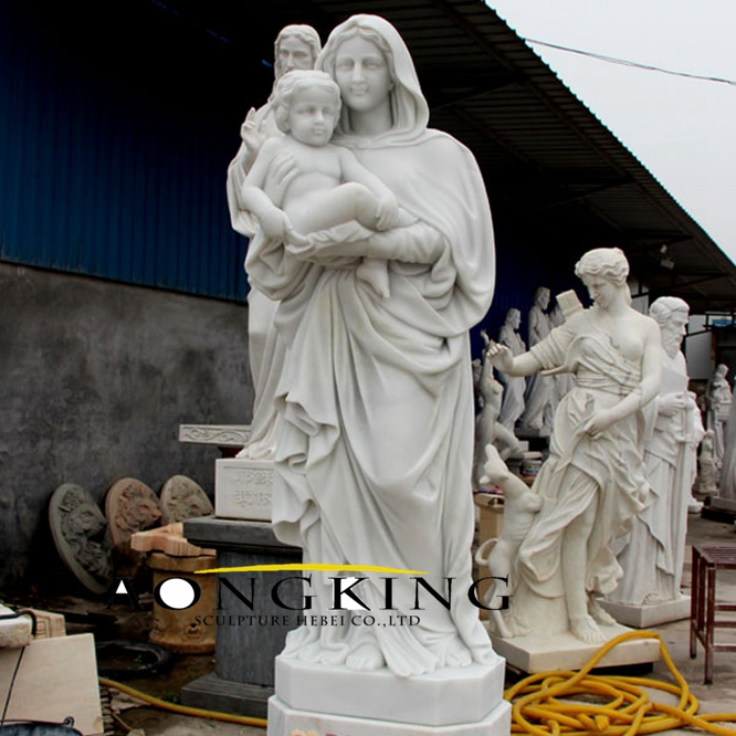 Our lady of virgin mary marble statue