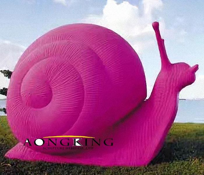 Outdoor decoration snail sculpture