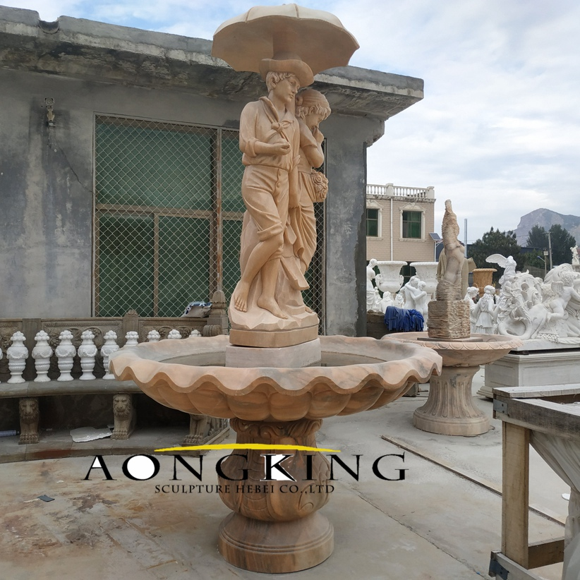 Outdoor kids marble fountain