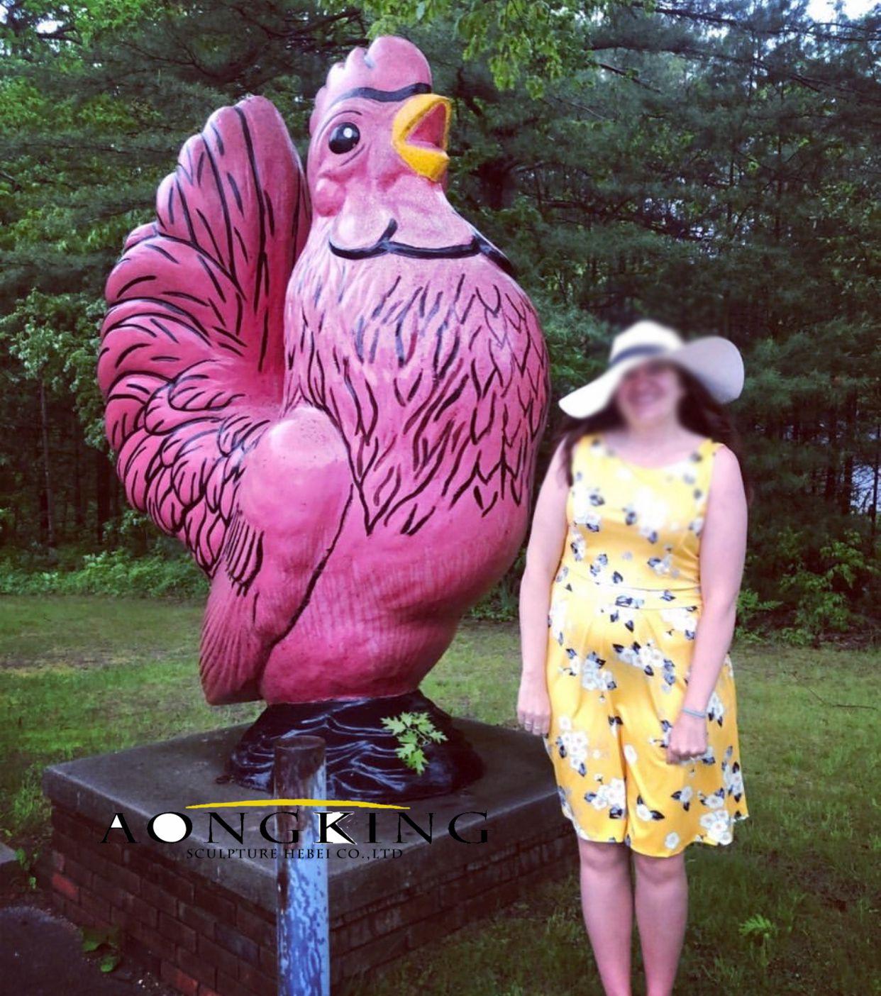 Parrot sculpture fiberglass