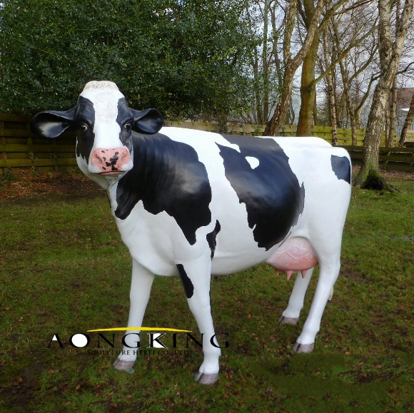 Resin cow statue