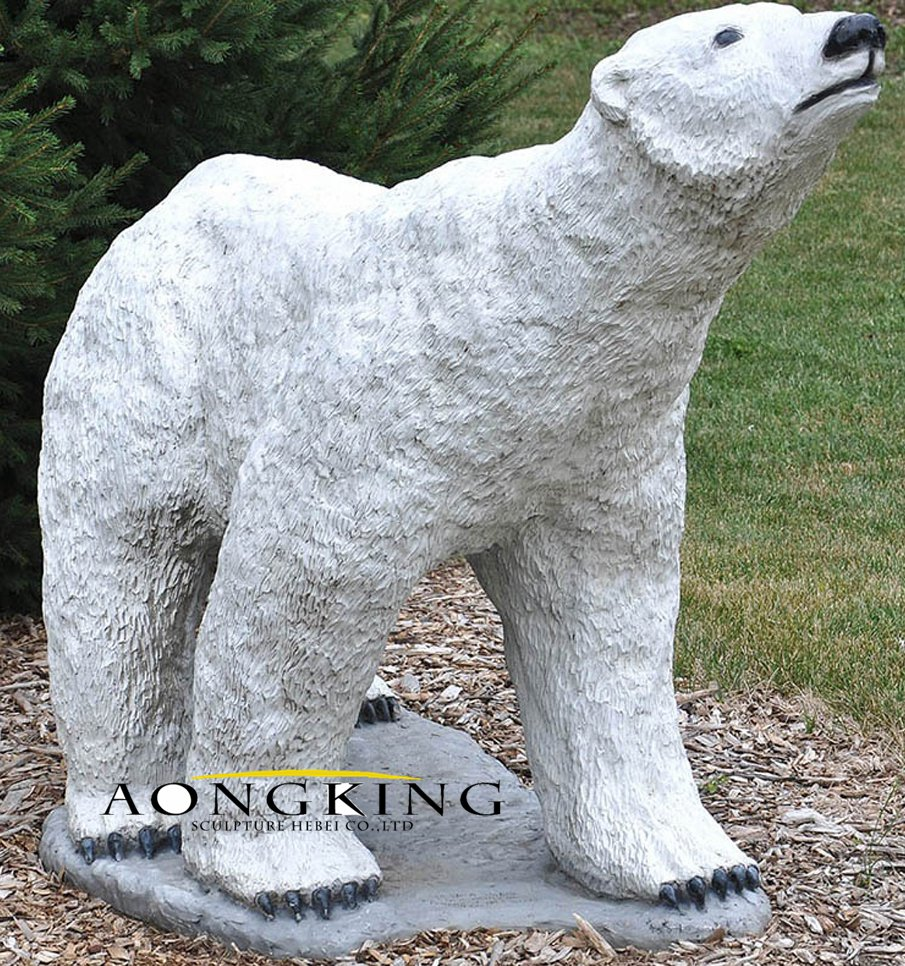Resin polar bear sculpture