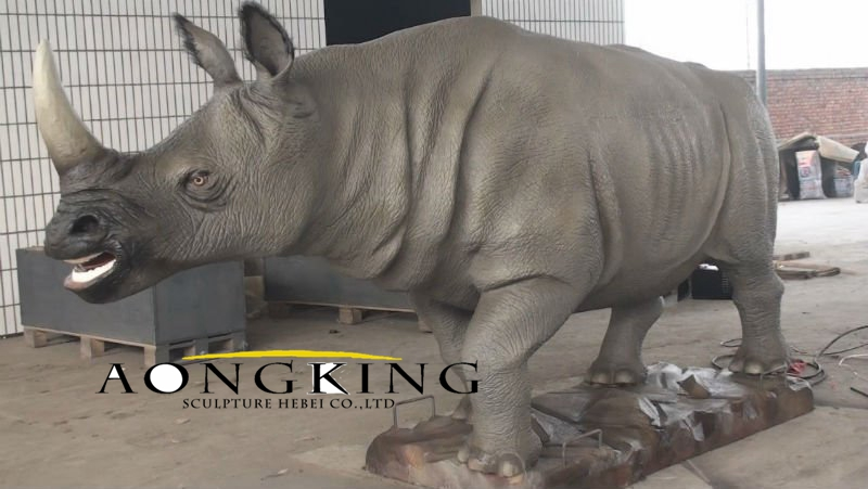 Rhinoceros statue in fiberglass