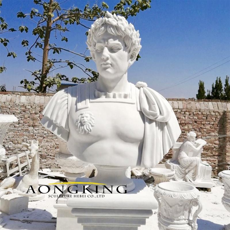 Roman figure marble bust