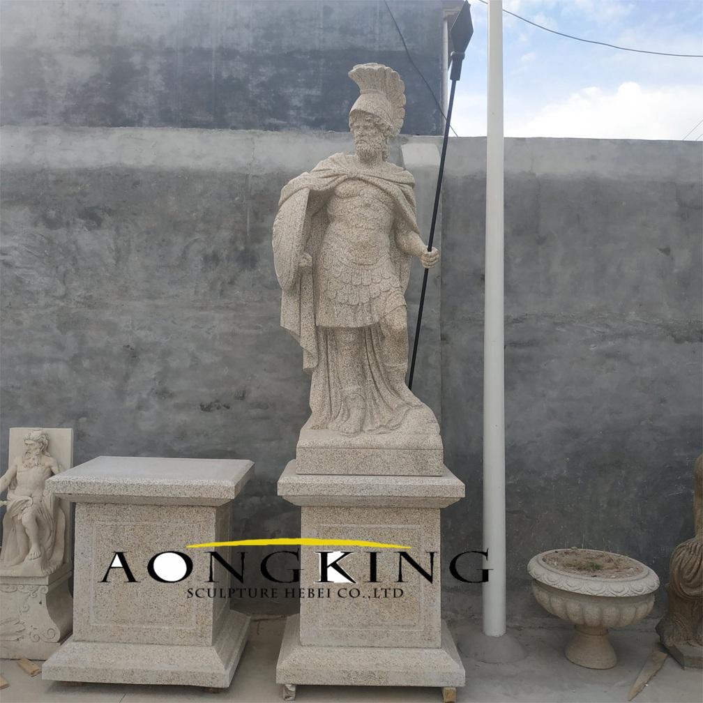 Roman soldier marble statue
