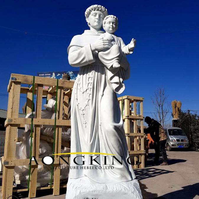 Saint antonio marble statue