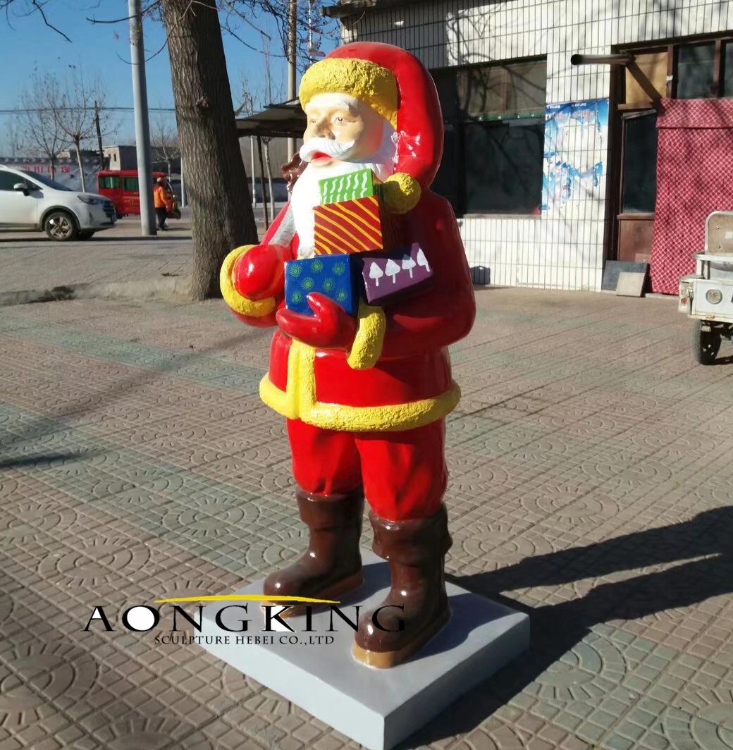 Santa claus fiberglass sculpture