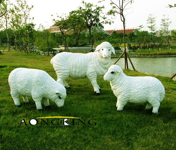 Sheep fiberglass sculpture