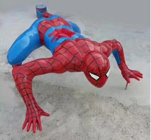 Spiderman sculpture in resin