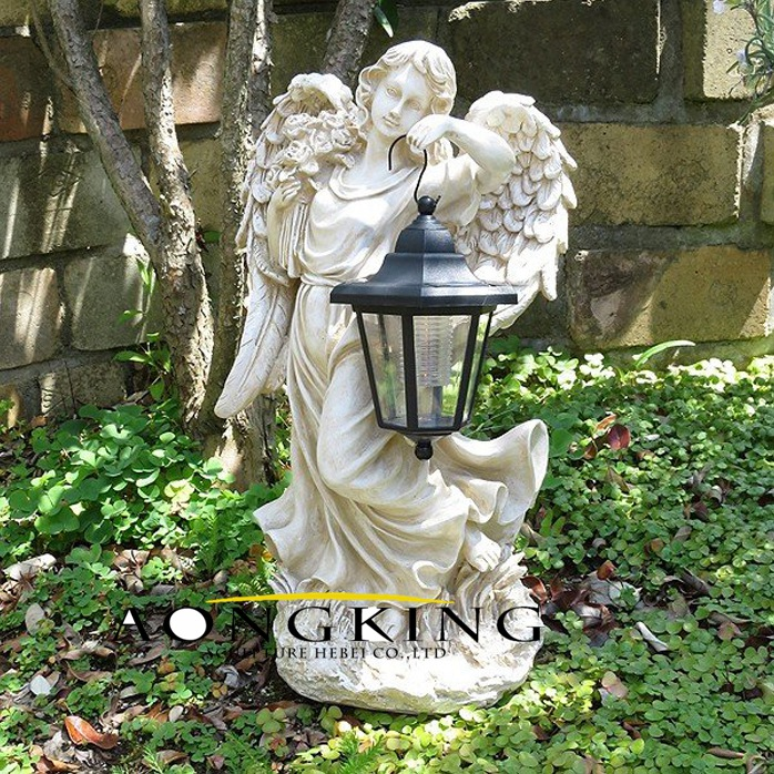 Statue Angel With Lamp