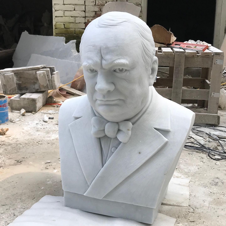 Famous man bust