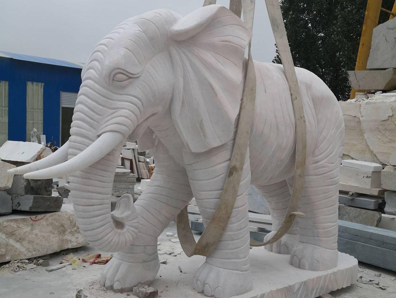 Hand marble elephant