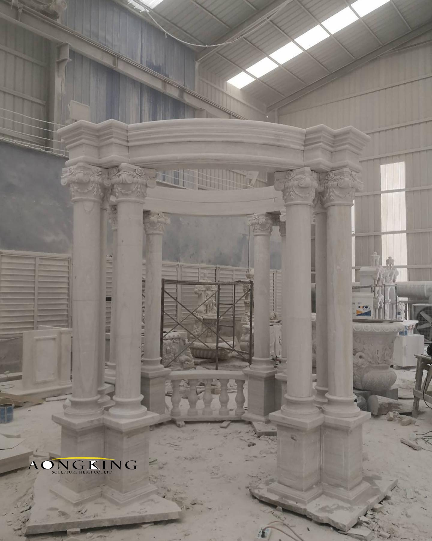 Marble column gazebo
