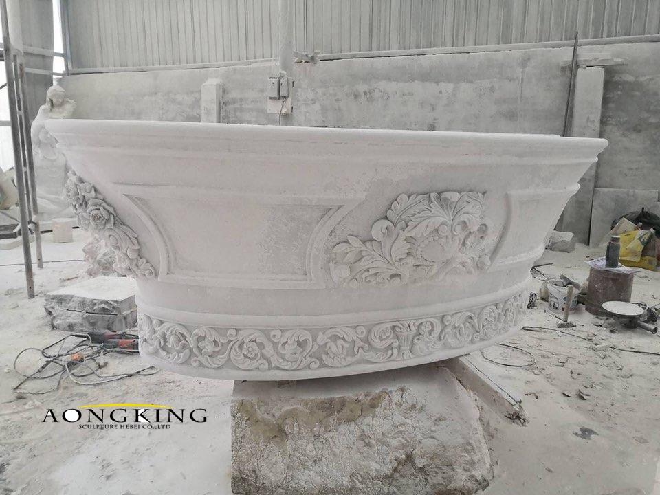 Marble modern bathtub