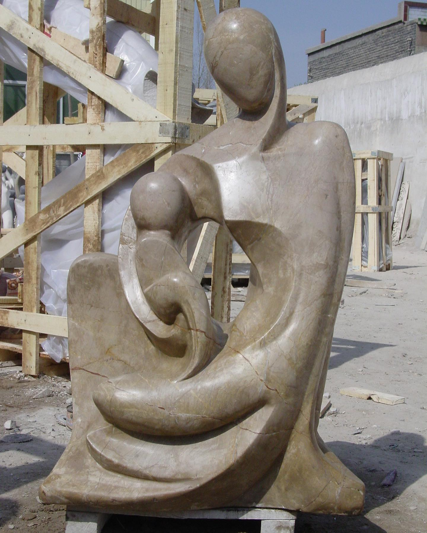 Stone statue carving