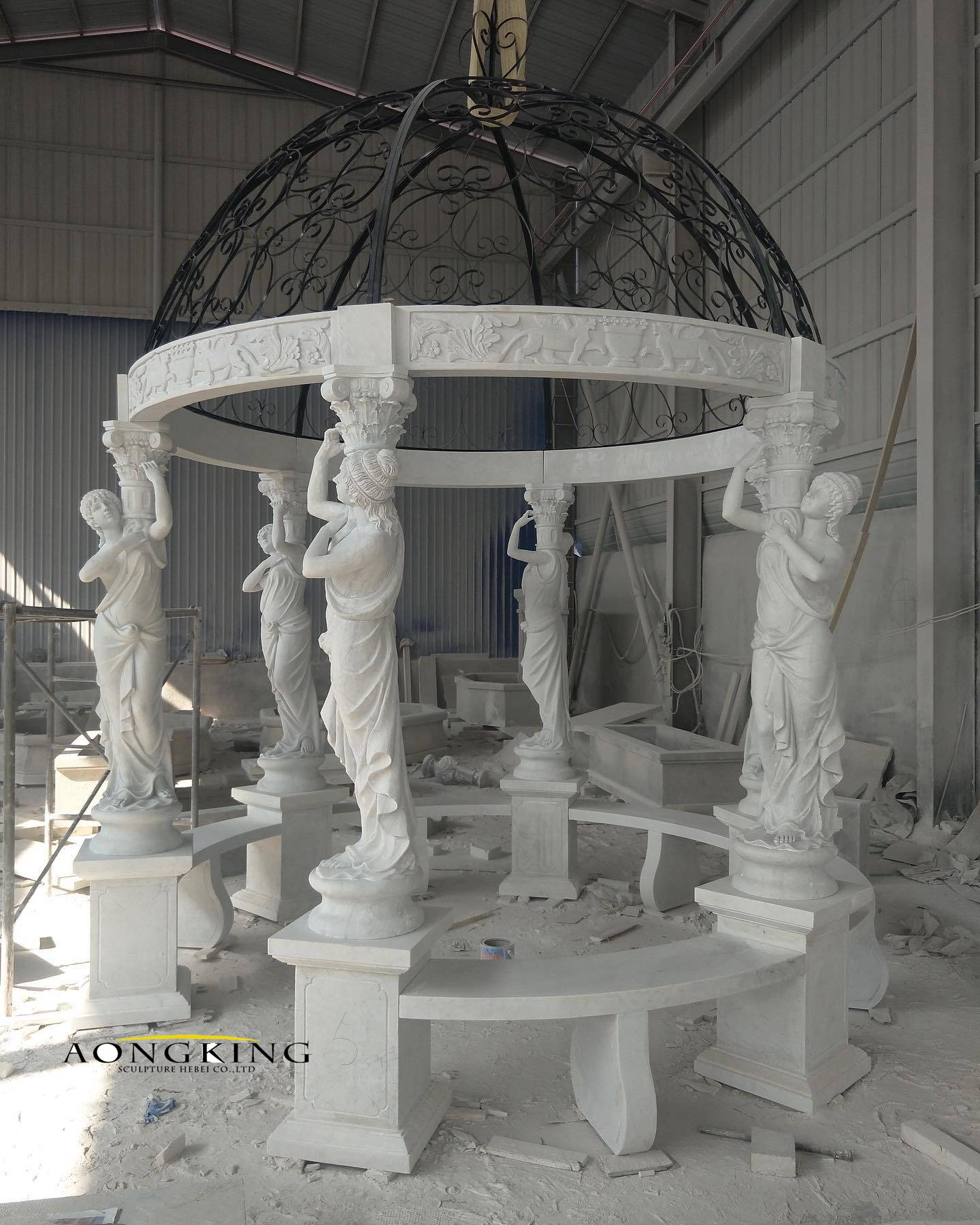 White marble gazebo