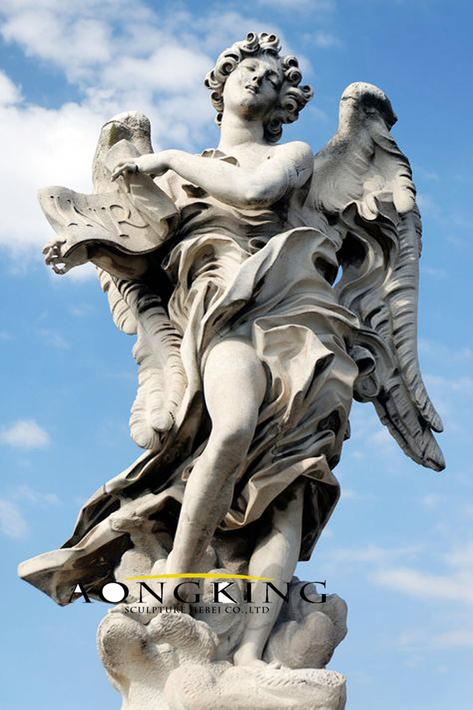 Baroque angle marble sculptures
