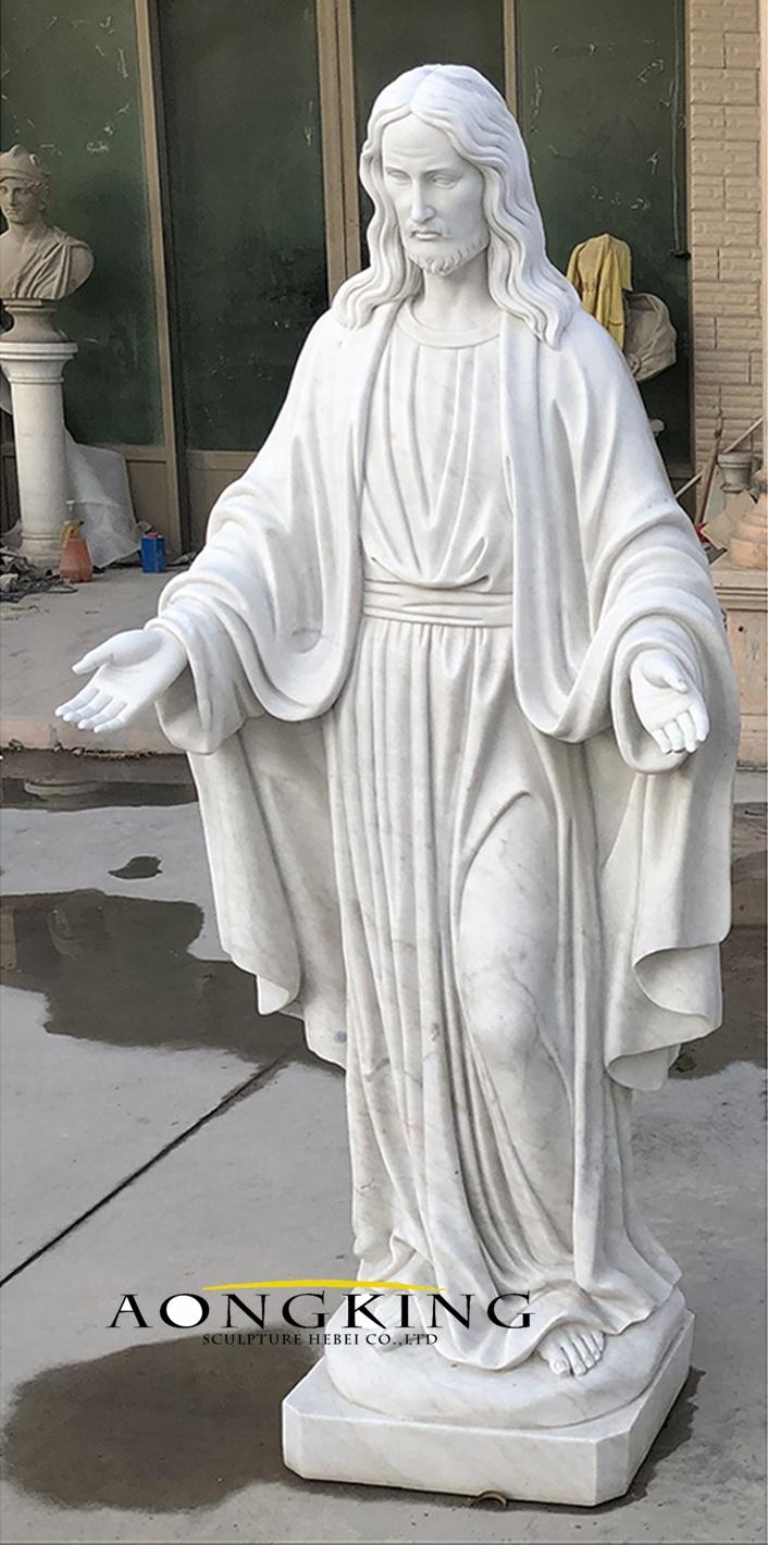 Jesus statue in marble