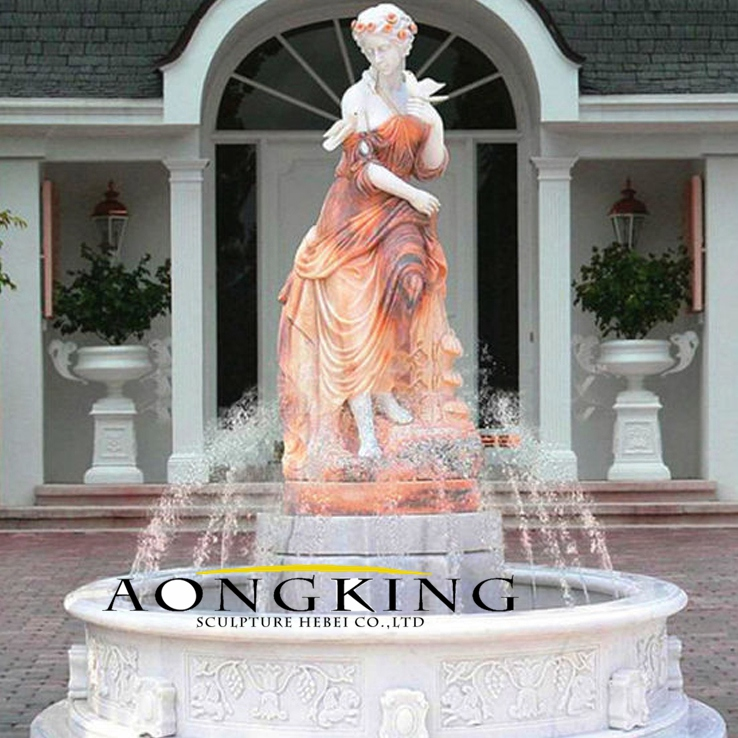 Marble outdoor water fountain