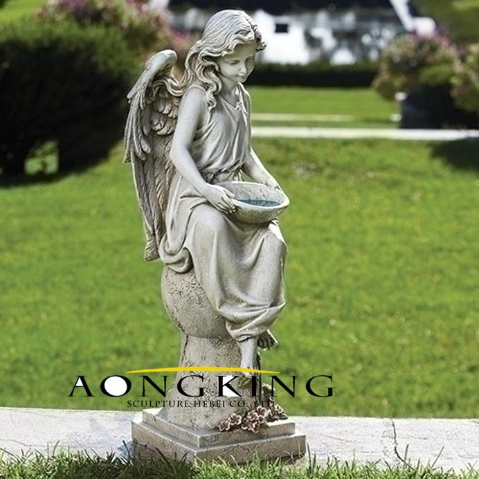 Solar garden angel statue
