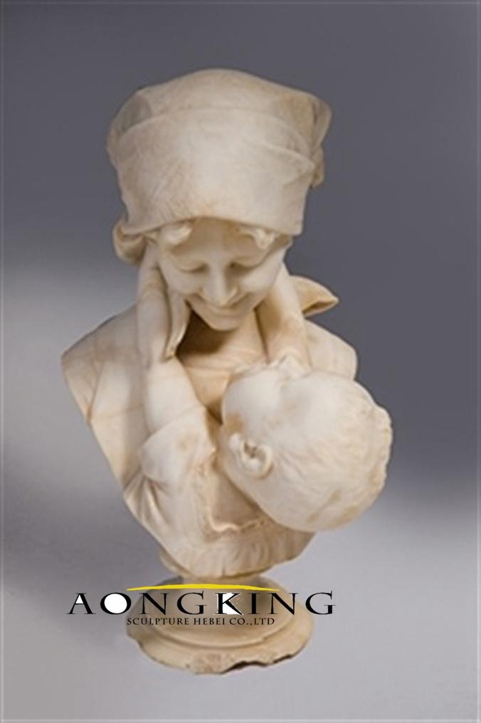 Marble bust sculpture