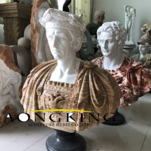 Life size marble bust