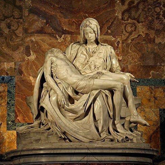 Religious art Pieta statue