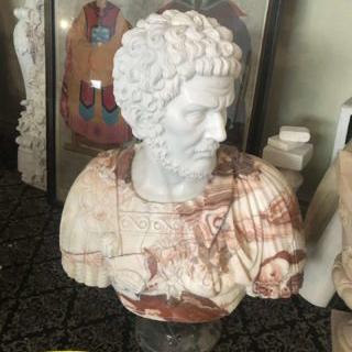 Roman man bust