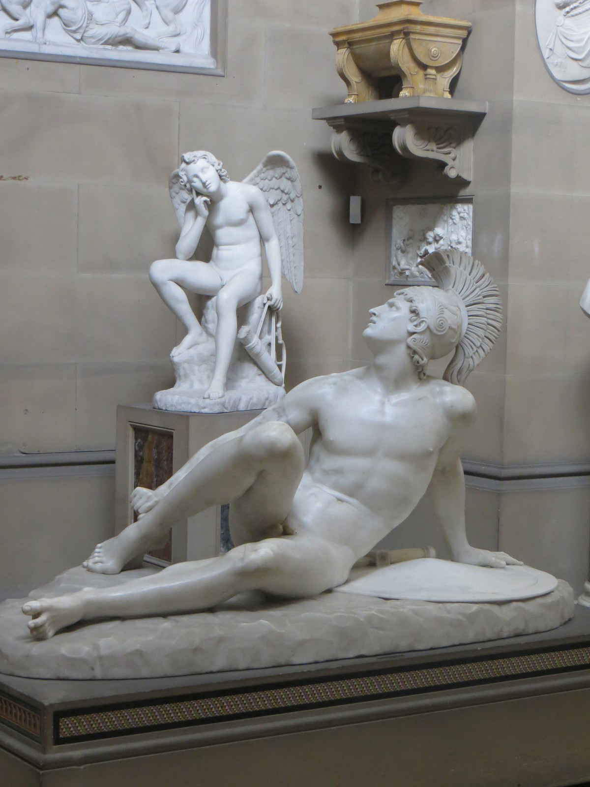 Wounded Achiles statue