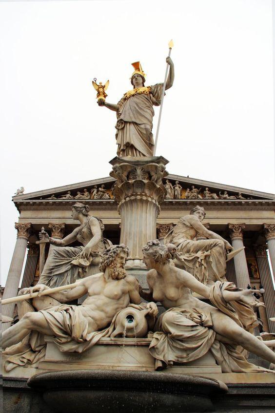 Athena Austrian Parliament Vienna statue