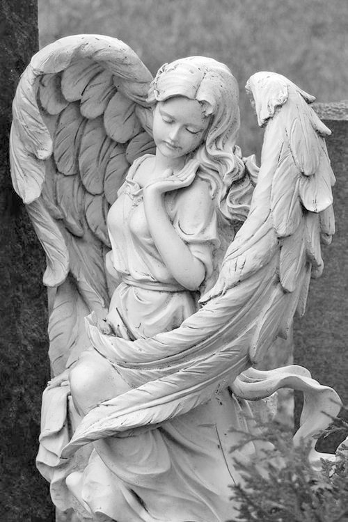 Cute angel girl statue