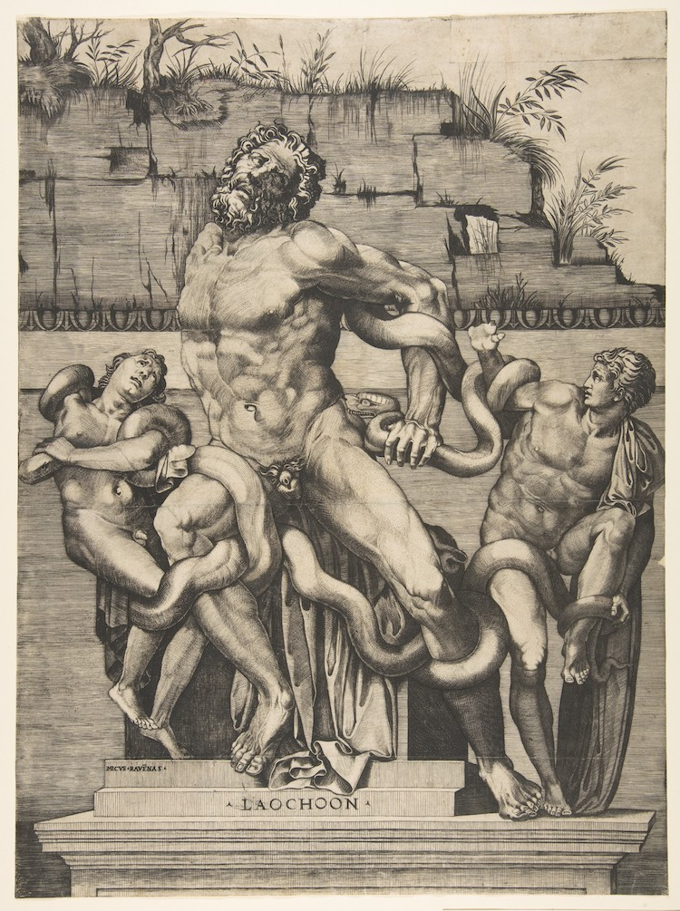 The Laocoon and his Sons in greek