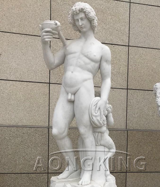Bacchus satyr statue