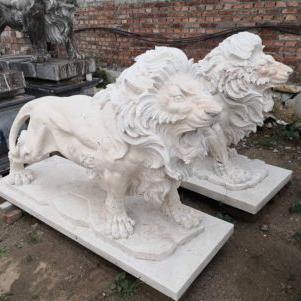 Sculpture stone lion