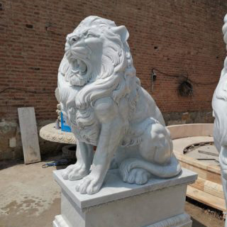 Stone lion statue for sale
