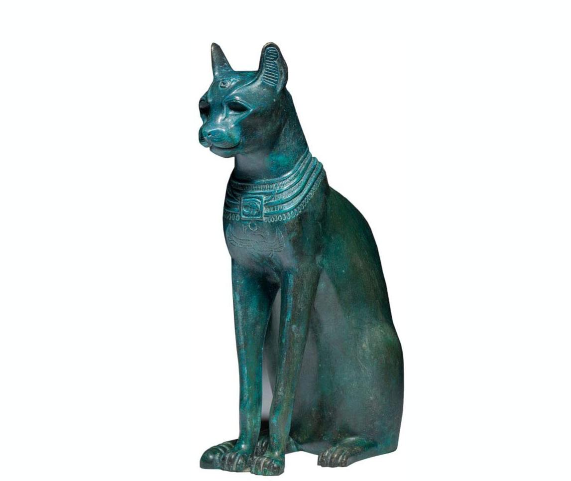 bronze Egyptian cat statue