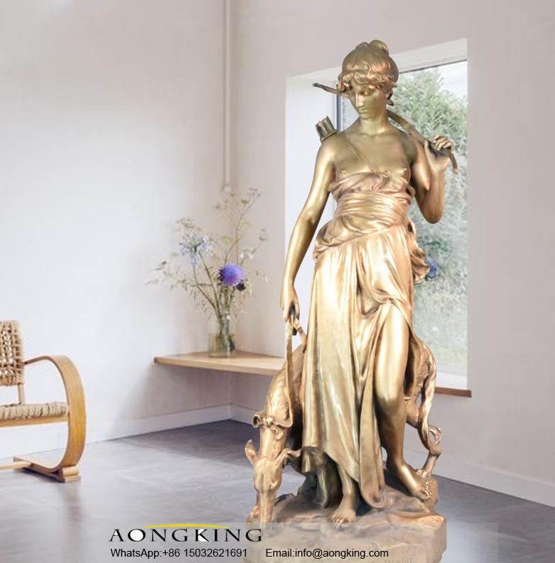 Diana bronze sculpture