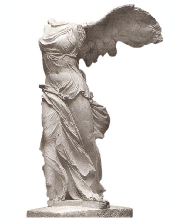 Headless angel statue