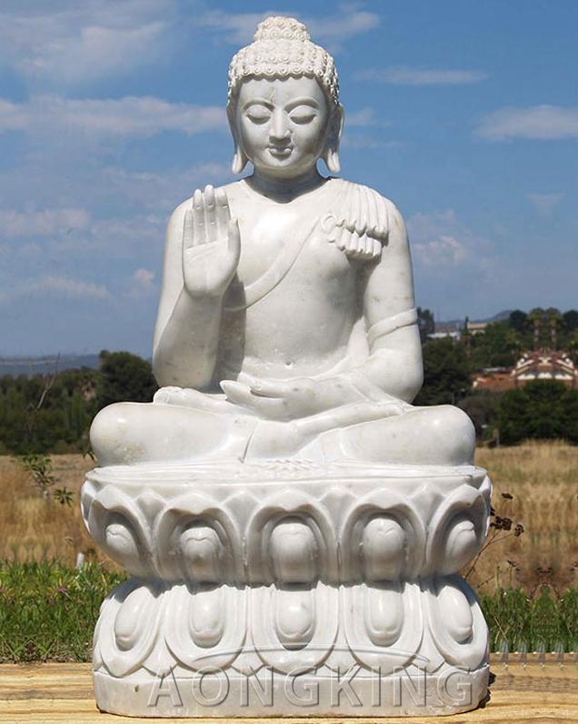 large stone buddha outdoor