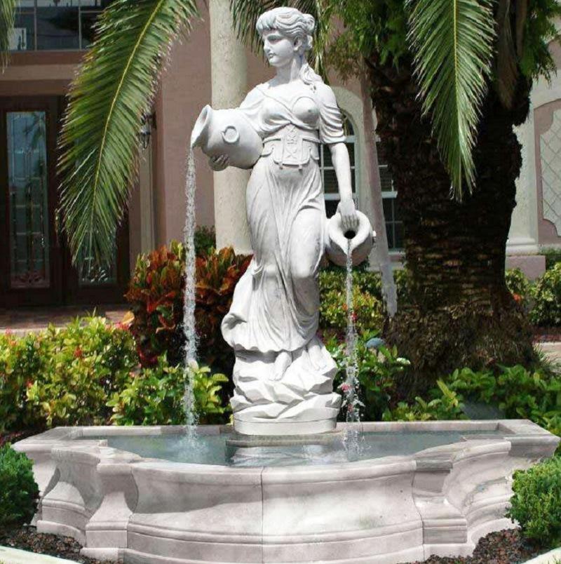 rococo sculpture of lady fountain
