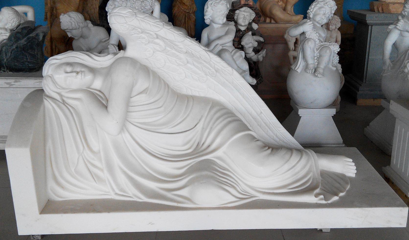 sleeping angel sculpture