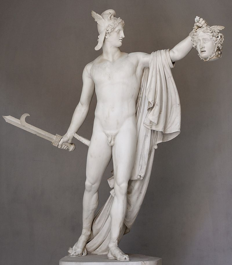 stone sculpture of Perseus with the Head of Medusa