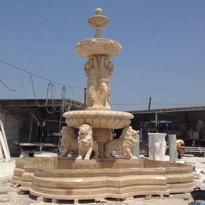 lion fountain sculpture