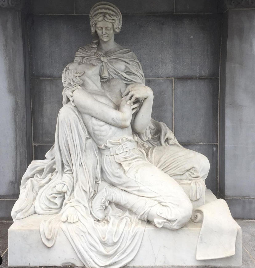 marble statues - the main tomb entrance