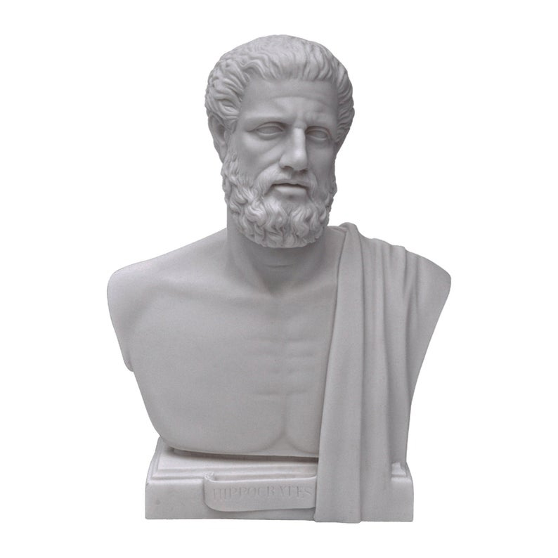 The famous Greek doctor and the father of medicine Hippocrates bust