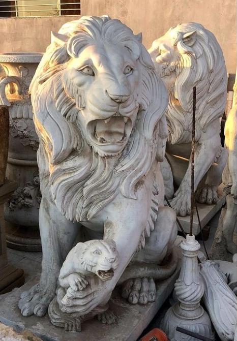 Vintage Stone Lion