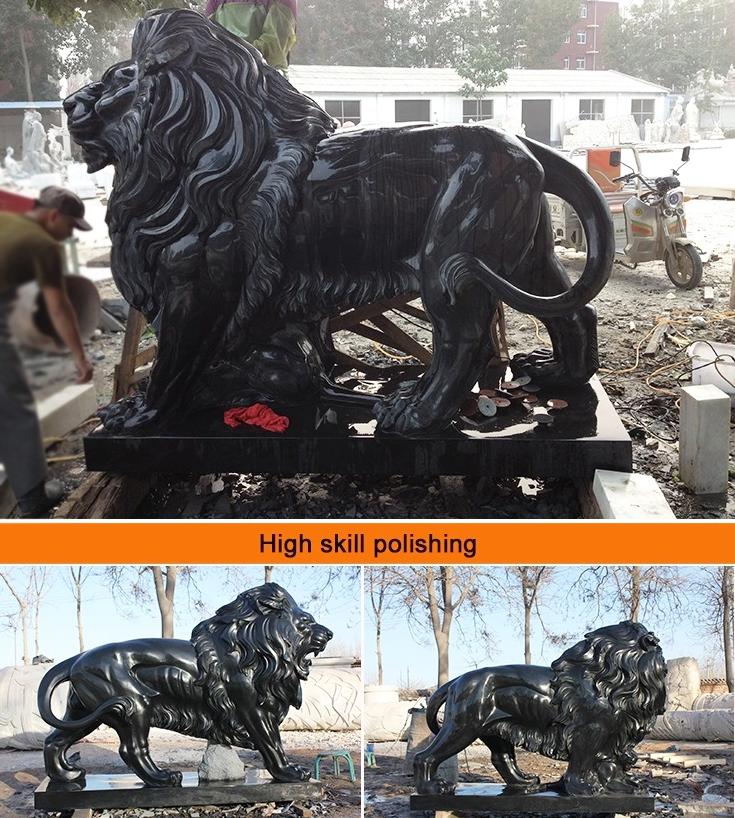 black marble lion