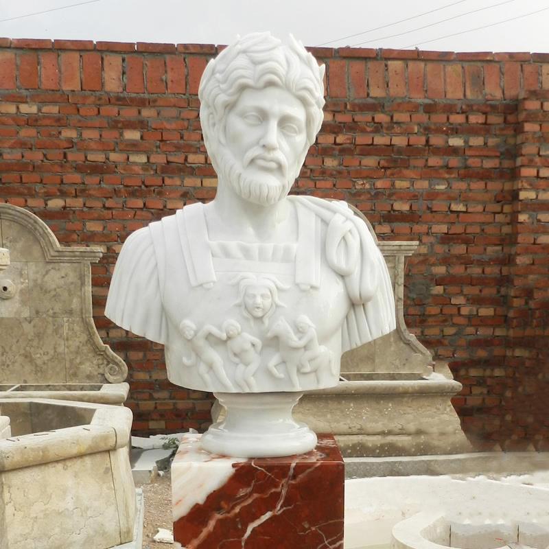 greek man bust marble