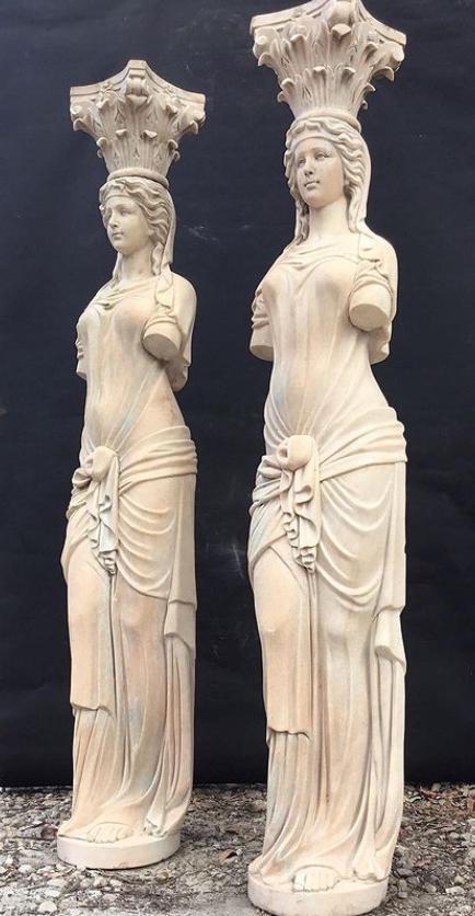 marble caryatid